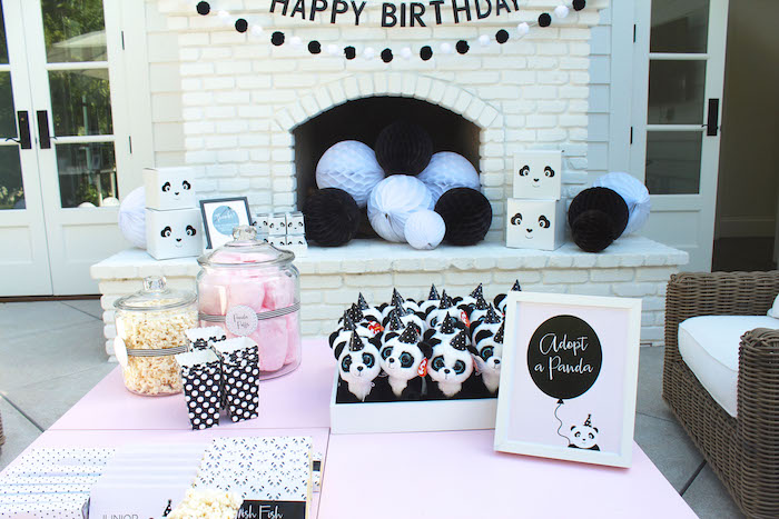 Party table + setup from a Party Like a Panda Birthday Party on Kara's Party Ideas | KarasPartyIdeas.com (42)