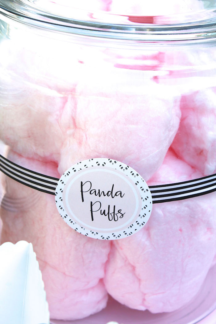 Panda puff cotton candy from a Party Like a Panda Birthday Party on Kara's Party Ideas | KarasPartyIdeas.com (41)