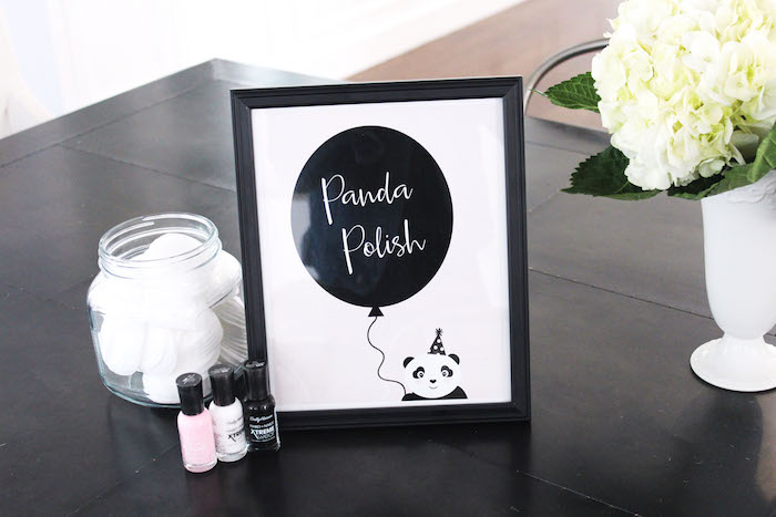 Panda Polish Station from a Party Like a Panda Birthday Party on Kara's Party Ideas | KarasPartyIdeas.com (35)