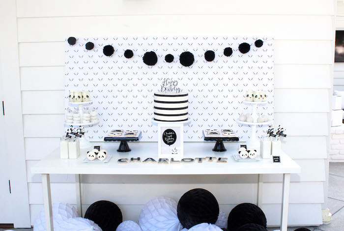 Dessert table from a Party Like a Panda Birthday Party on Kara's Party Ideas | KarasPartyIdeas.com (33)