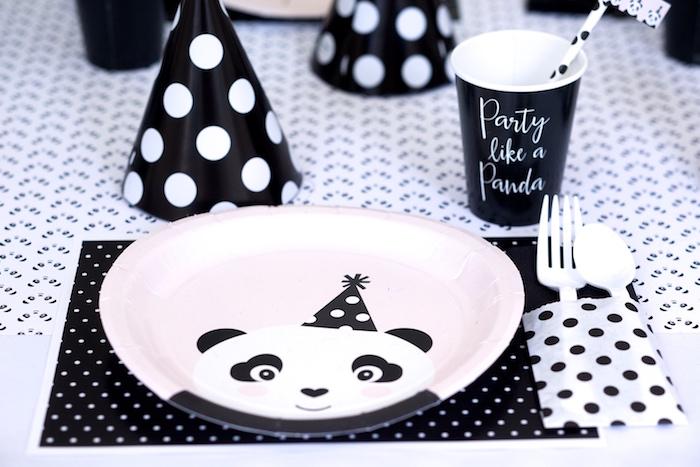 Panda Bear place setting from a Party Like a Panda Birthday Party on Kara's Party Ideas | KarasPartyIdeas.com (30)