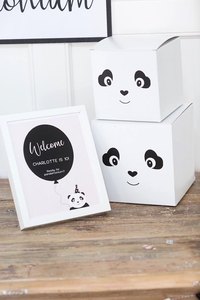 Panda Bear favor boxes from a Party Like a Panda Birthday Party on Kara's Party Ideas | KarasPartyIdeas.com (29)