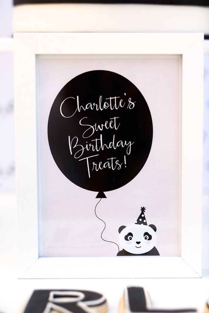 panda bear print from a party like a panda birthday party on karas party ideas