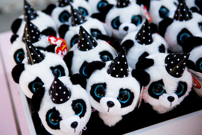 Plush Panda Bears from a Party Like a Panda Birthday Party on Kara's Party Ideas | KarasPartyIdeas.com (20)