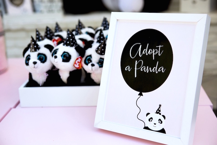 Adopt a Panda station from a Party Like a Panda Birthday Party on Kara's Party Ideas | KarasPartyIdeas.com (19)