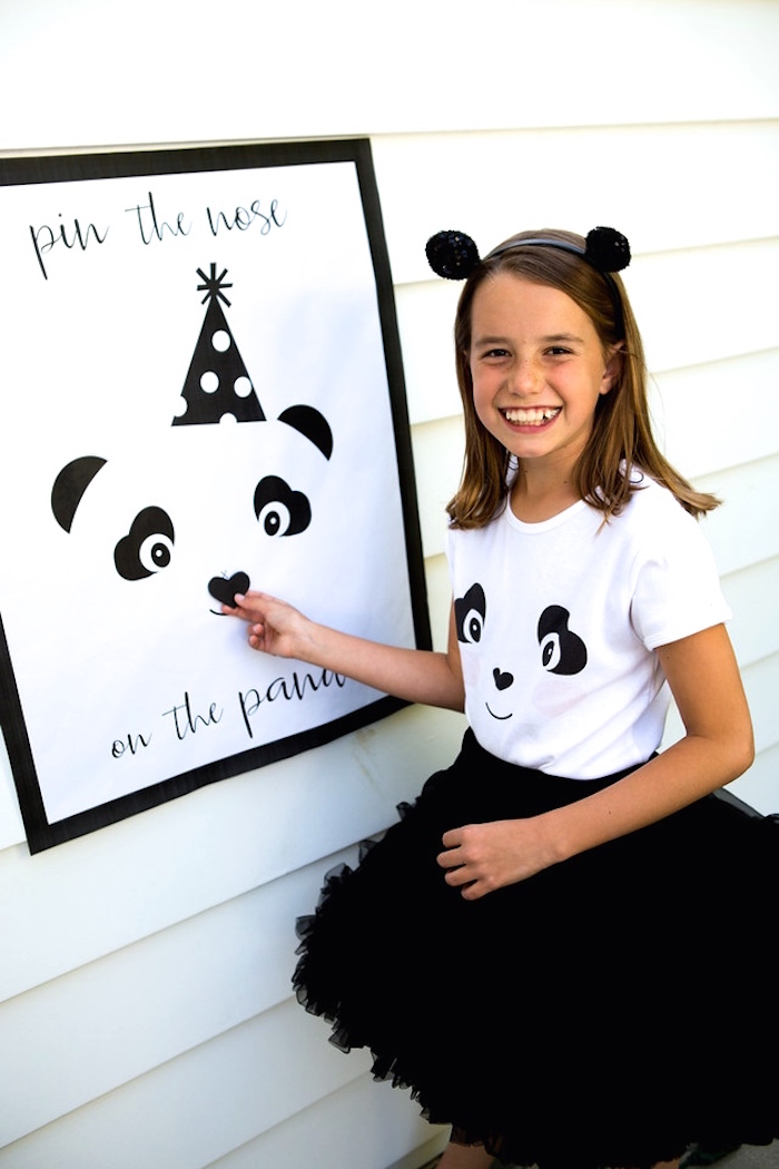 Pin the nose on the Panda Bear game board from a Party Like a Panda Birthday Party on Kara's Party Ideas | KarasPartyIdeas.com (17)