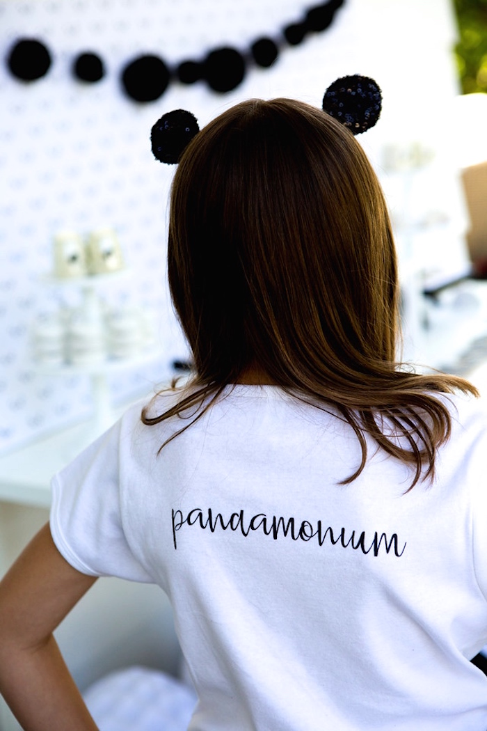 Custom pandamonium shirt from a Party Like a Panda Birthday Party on Kara's Party Ideas | KarasPartyIdeas.com (14)