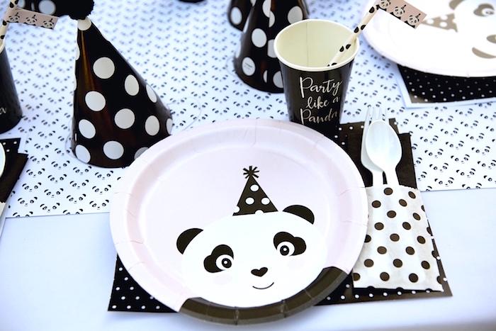 Panda Bear place setting from a Party Like a Panda Birthday Party on Kara's Party Ideas | KarasPartyIdeas.com (11)