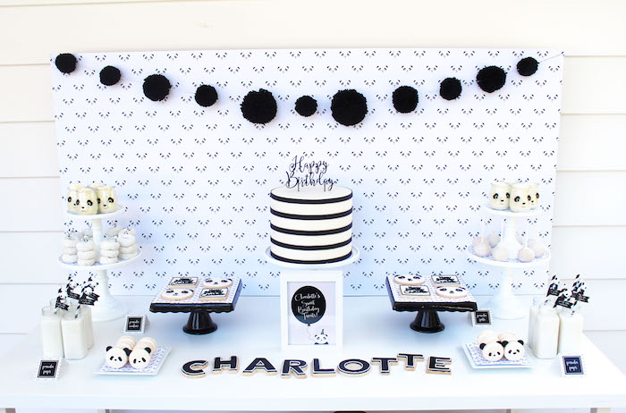Dessert table from a Party Like a Panda Birthday Party on Kara's Party Ideas | KarasPartyIdeas.com (54)
