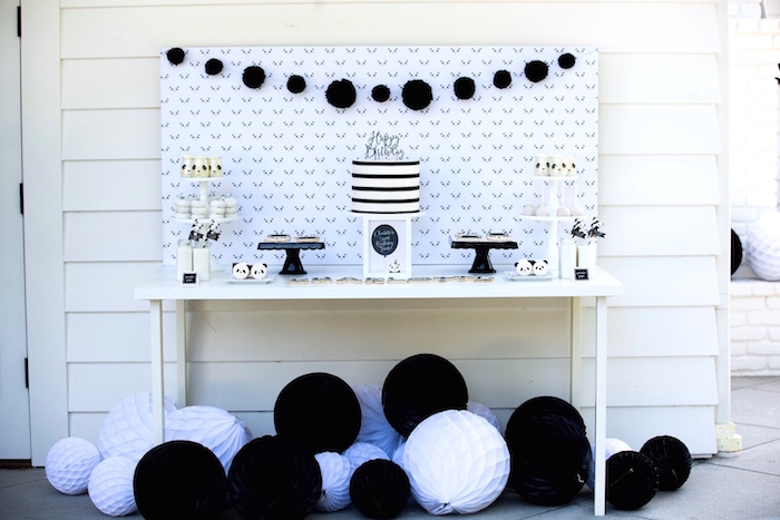 Sweet table from a Party Like a Panda Birthday Party on Kara's Party Ideas | KarasPartyIdeas.com (5)