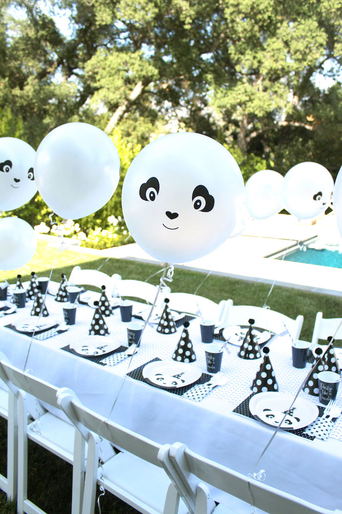 Panda Bear party table form a Party Like a Panda Birthday Party on Kara's Party Ideas | KarasPartyIdeas.com (50)