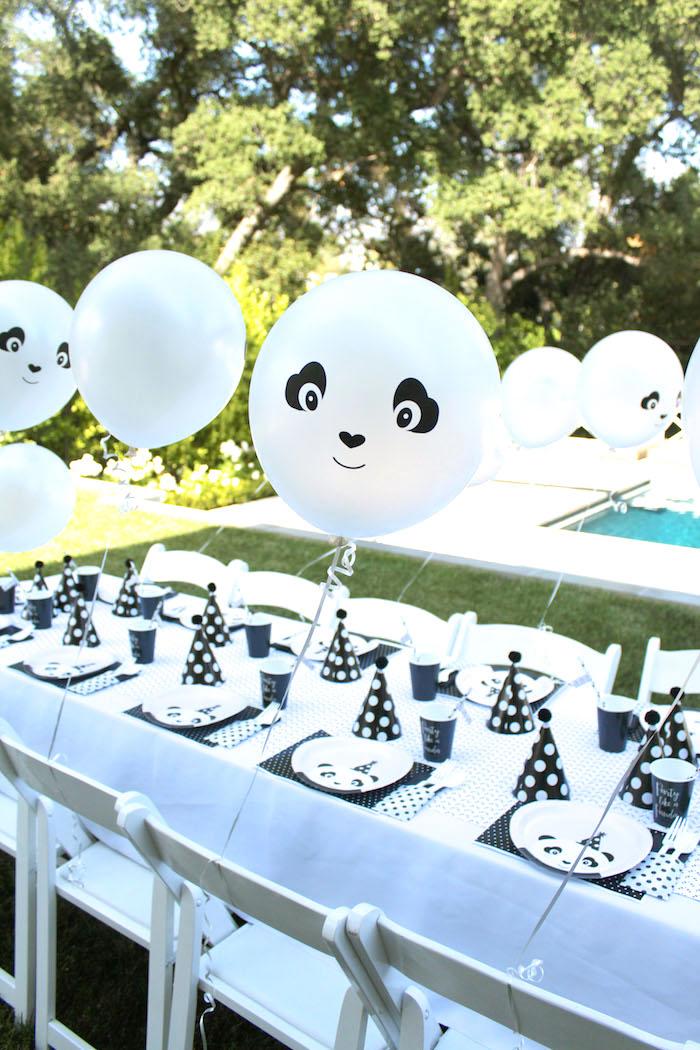 Panda Bear party table form a Party Like a Panda Birthday Party on Kara's Party Ideas | KarasPartyIdeas.com (50)