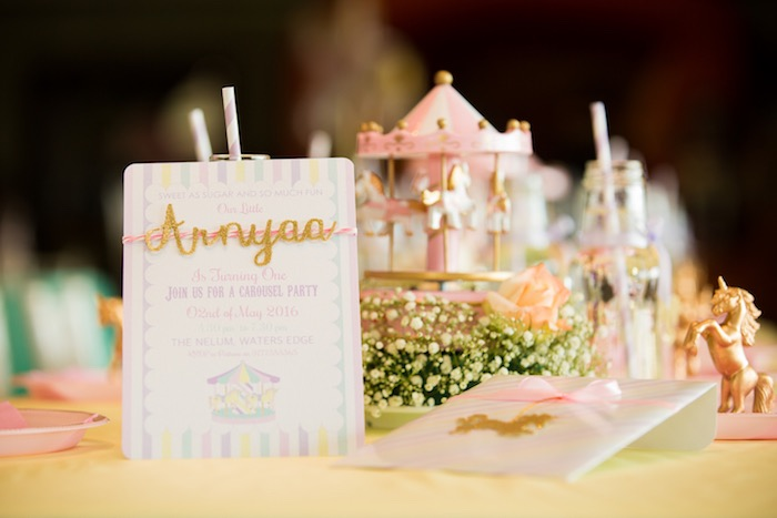 Invitation from a Pastel Carousel Birthday Party on Kara's Party Ideas | KarasPartyIdeas.com (34)