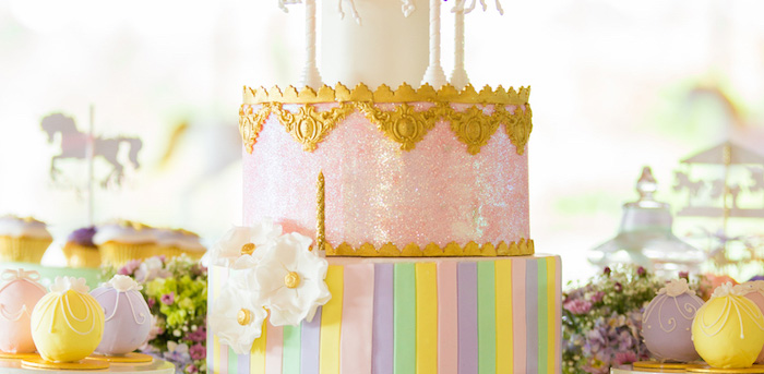 Pastel Carousel Birthday Party on Kara's Party Ideas | KarasPartyIdeas.com (1)