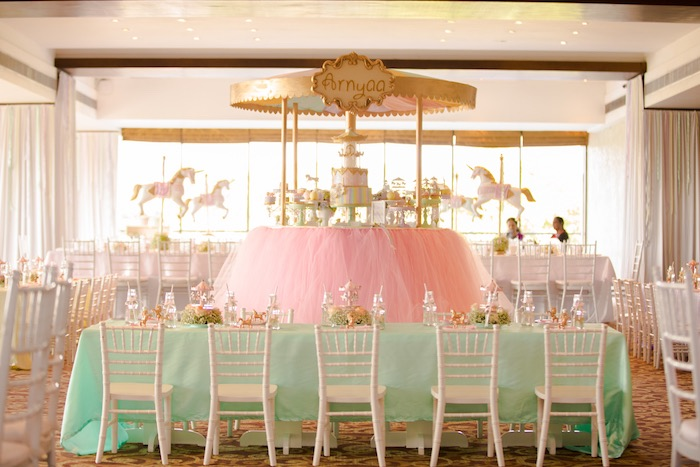Pastel Carousel Birthday Party on Kara's Party Ideas | KarasPartyIdeas.com (36)