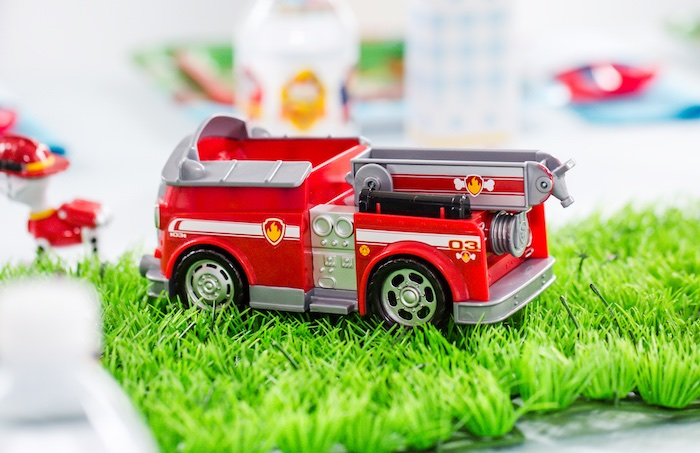 Marshall's Fire Fighting Truck from a Paw Patrol Birthday Party on Kara's Party Ideas | KarasPartyIdeas.com (28)