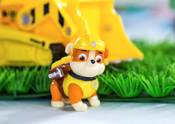 Rubble toy prop from a Paw Patrol Birthday Party on Kara's Party Ideas | KarasPartyIdeas.com (27)