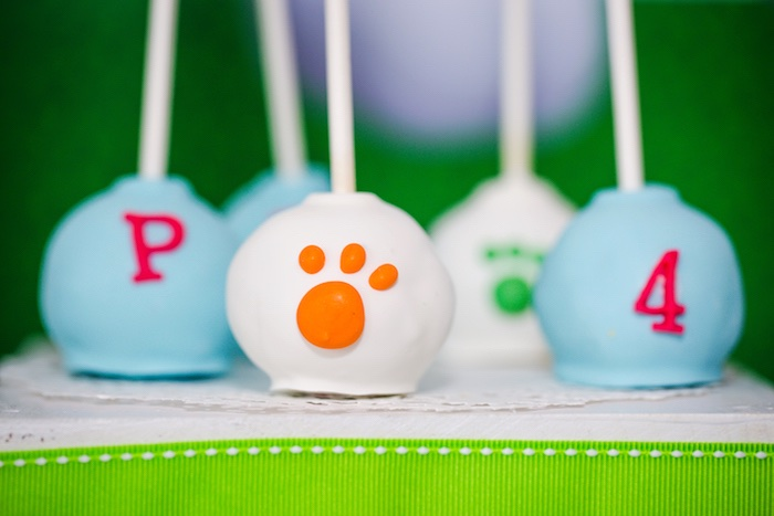 Cake pops from a Paw Patrol Birthday Party on Kara's Party Ideas | KarasPartyIdeas.com (25)