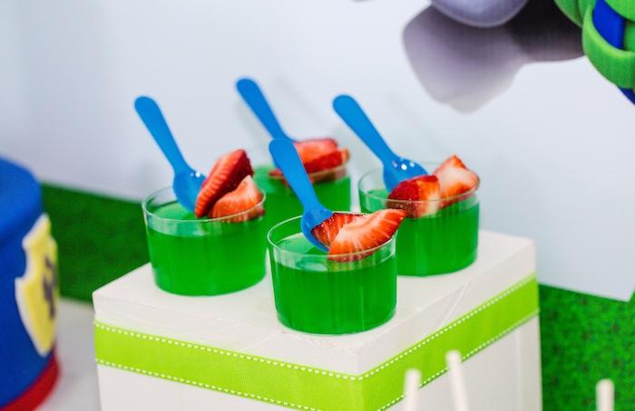 Rocky's jello cups from a Paw Patrol Birthday Party on Kara's Party Ideas | KarasPartyIdeas.com (19)