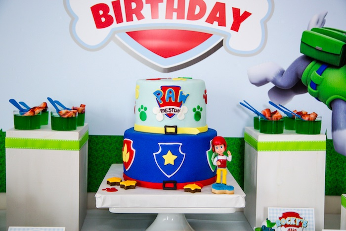Cakescape from a Paw Patrol Birthday Party on Kara's Party Ideas | KarasPartyIdeas.com (13)