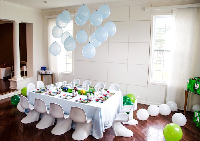 Partyscape from a Paw Patrol Birthday Party on Kara's Party Ideas | KarasPartyIdeas.com (12)
