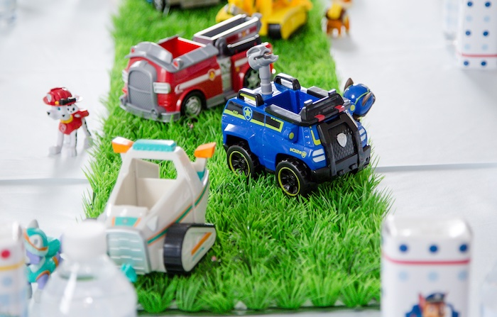 Paw Patrol cars from a Paw Patrol Birthday Party on Kara's Party Ideas | KarasPartyIdeas.com (11)