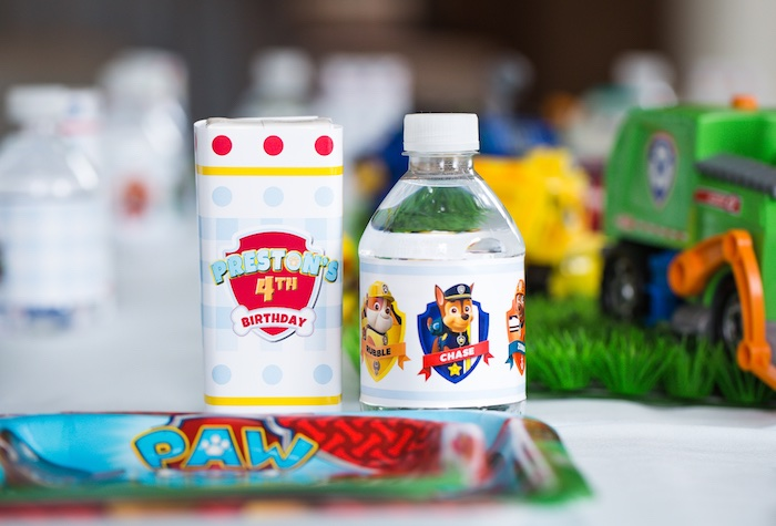 Paw Patrol drink from a Paw Patrol Birthday Party on Kara's Party Ideas | KarasPartyIdeas.com (37)