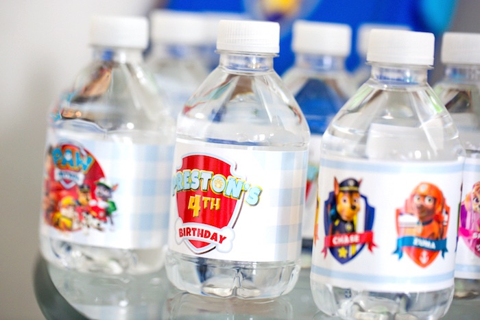 Paw Patrol water bottles from a Paw Patrol Birthday Party on Kara's Party Ideas | KarasPartyIdeas.com (35)