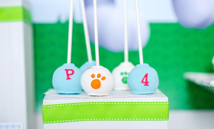 Paw Patrol cake pops from a Paw Patrol Birthday Party on Kara's Party Ideas | KarasPartyIdeas.com (34)