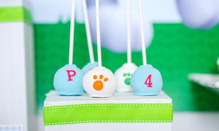 Paw Patrol cake pops from a Paw Patrol Birthday Party on Kara's Party Ideas | KarasPartyIdeas.com (34)