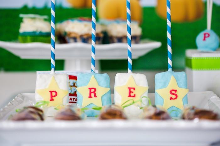 Skye's Krispie Treats from a Paw Patrol Birthday Party on Kara's Party Ideas | KarasPartyIdeas.com (32)
