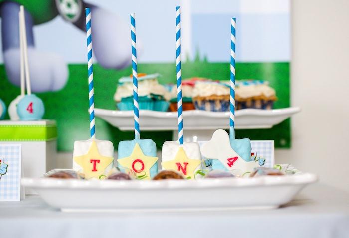 Skye's Krispie Treats from a Paw Patrol Birthday Party on Kara's Party Ideas | KarasPartyIdeas.com (31)