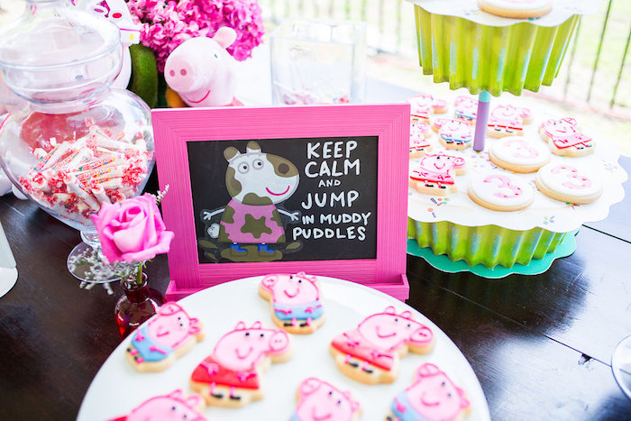 Peppa Pig sign & sweets from a Peppa Pig Birthday Party on Kara's Party Ideas | KarasPartyIdeas.com (36)