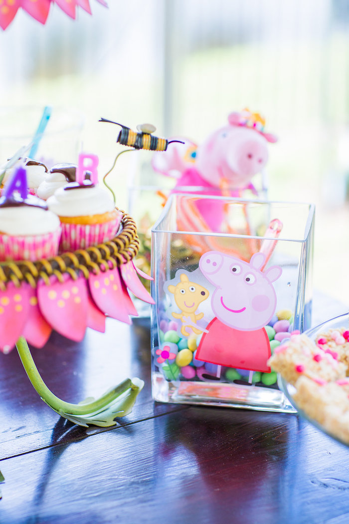 Peppa Pig candy dish from a Peppa Pig Birthday Party on Kara's Party Ideas | KarasPartyIdeas.com (22)
