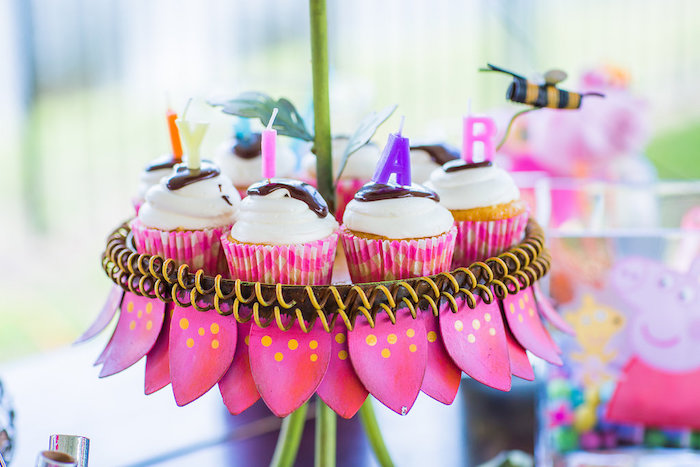 Cupcakes from a Peppa Pig Birthday Party on Kara's Party Ideas | KarasPartyIdeas.com (21)
