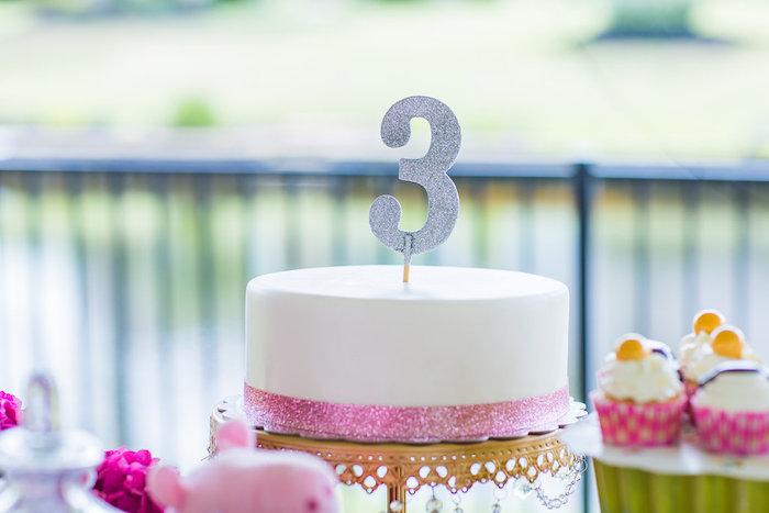 White cake from a Peppa Pig Birthday Party on Kara's Party Ideas | KarasPartyIdeas.com (19)