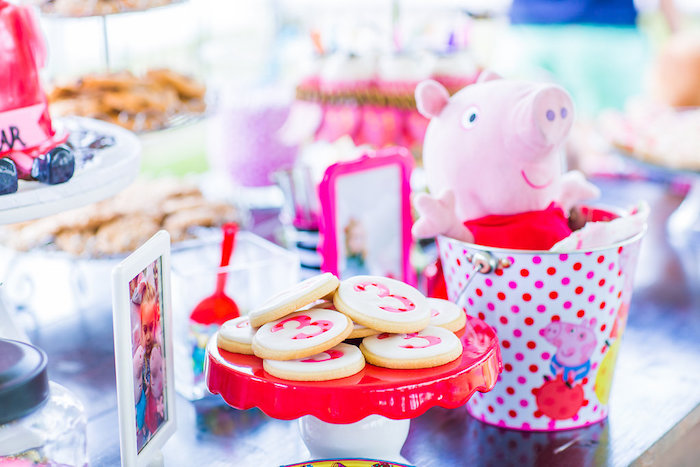 Cookies & decor from a Peppa Pig Birthday Party on Kara's Party Ideas | KarasPartyIdeas.com (18)
