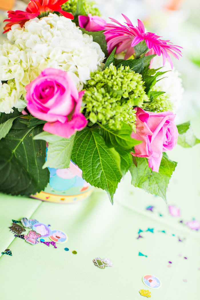 Peppa Pig confetti from a Peppa Pig Birthday Party on Kara's Party Ideas | KarasPartyIdeas.com (9)