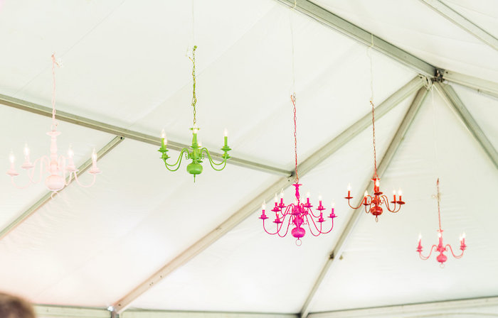 Colorful chandeliers from a Peppa Pig Birthday Party on Kara's Party Ideas | KarasPartyIdeas.com (44)