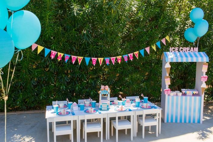 Pink & Blue Summer Ice Cream Party on Kara's Party Ideas | KarasPartyIdeas.com (6)
