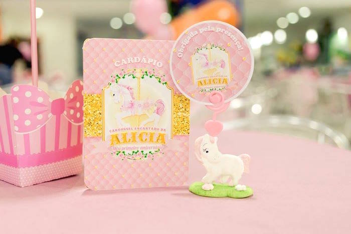 Invitation + stationery from a Pink Carousel Birthday Party on Kara's Party Ideas | KarasPartyIdeas.com (38)