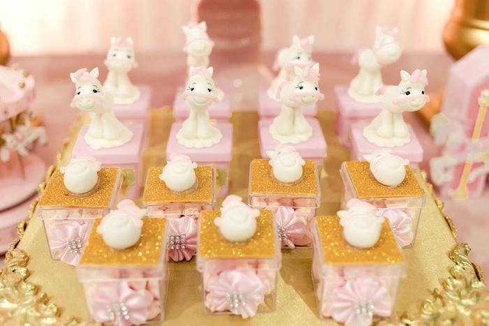 Mini plastic favor boxes from a Pink Carousel Birthday Party on Kara's Party Ideas | KarasPartyIdeas.com (24)