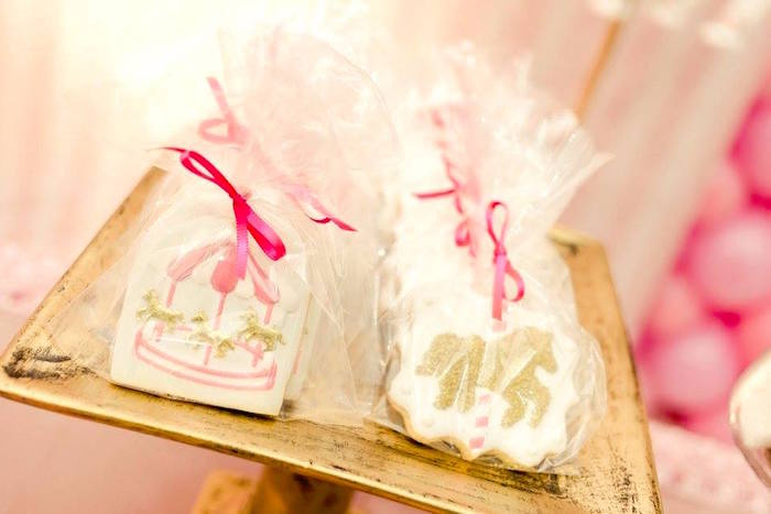 Carousel cookies from a Pink Carousel Birthday Party on Kara's Party Ideas | KarasPartyIdeas.com (17)