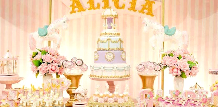 Kara S Party Ideas Beautiful Pink Carousel Birthday Party