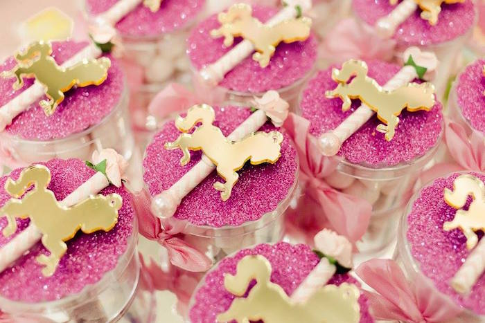 Carousel pony favors from a Pink Carousel Birthday Party on Kara's Party Ideas | KarasPartyIdeas.com (41)