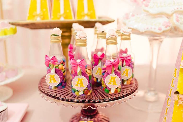 Favor bottles from a Pink Carousel Birthday Party on Kara's Party Ideas | KarasPartyIdeas.com (40)
