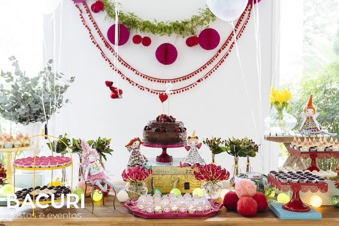 Dessert table from a Rag Doll Themed Birthday Party on Kara's Party Ideas | KarasPartyIdeas.com (20)