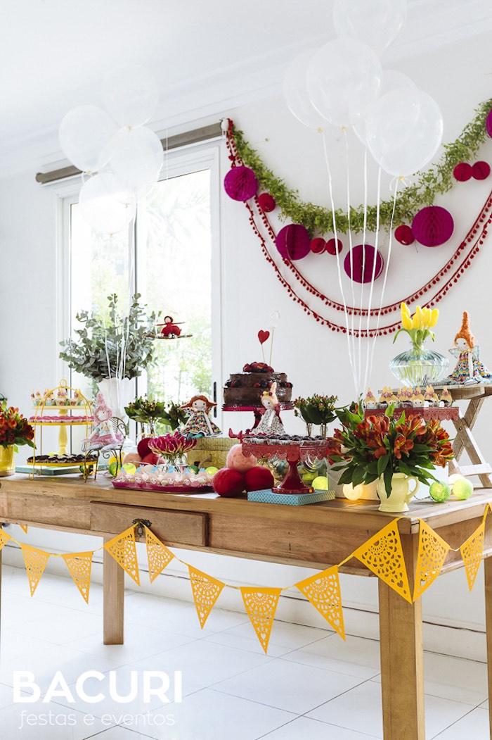 Rag Doll Themed Birthday Party on Kara's Party Ideas | KarasPartyIdeas.com (18)