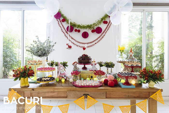 Sweet table from a Rag Doll Themed Birthday Party on Kara's Party Ideas | KarasPartyIdeas.com (38)