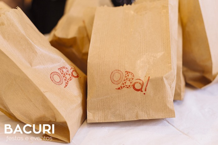 Stamped brown paper bags from a Rag Doll Themed Birthday Party on Kara's Party Ideas | KarasPartyIdeas.com (4)